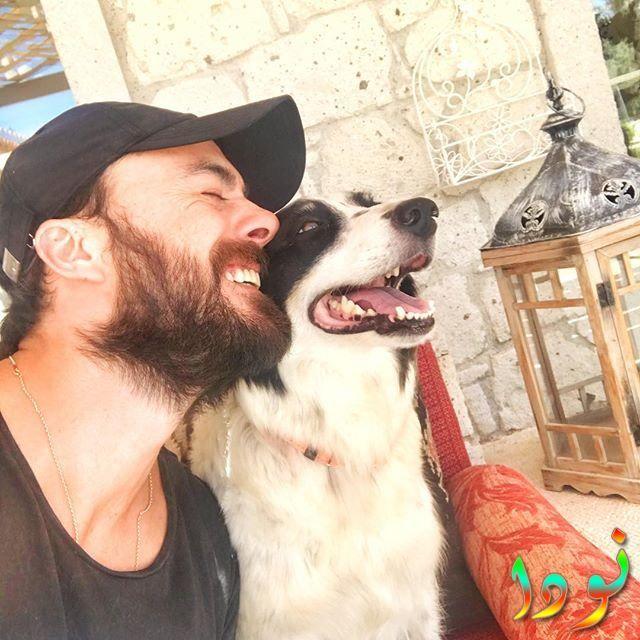 ايرين هاجي صالح اوغلو يحب تربية الكلاب والتصوير مع كلبه المفضل