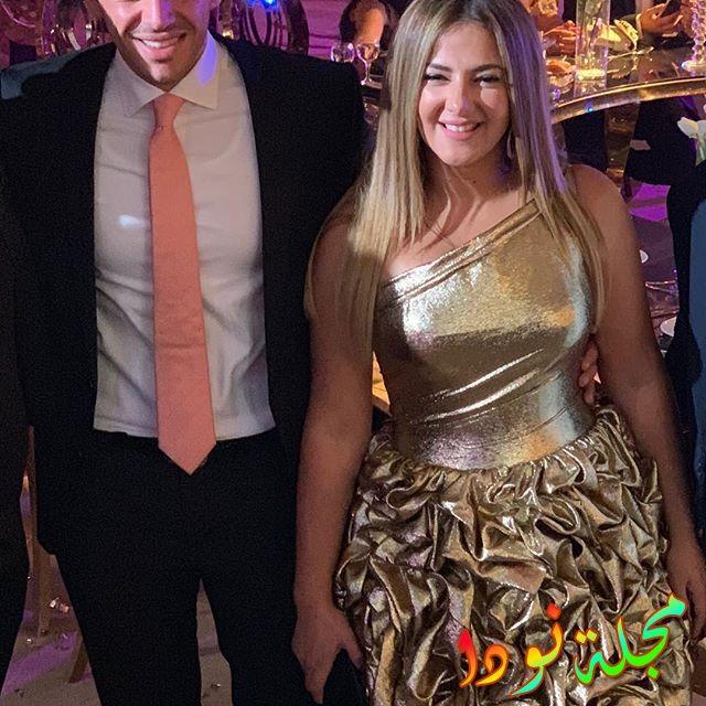 دنيا سمير غانم وزوجها في حفل زفاف شيماء سيف