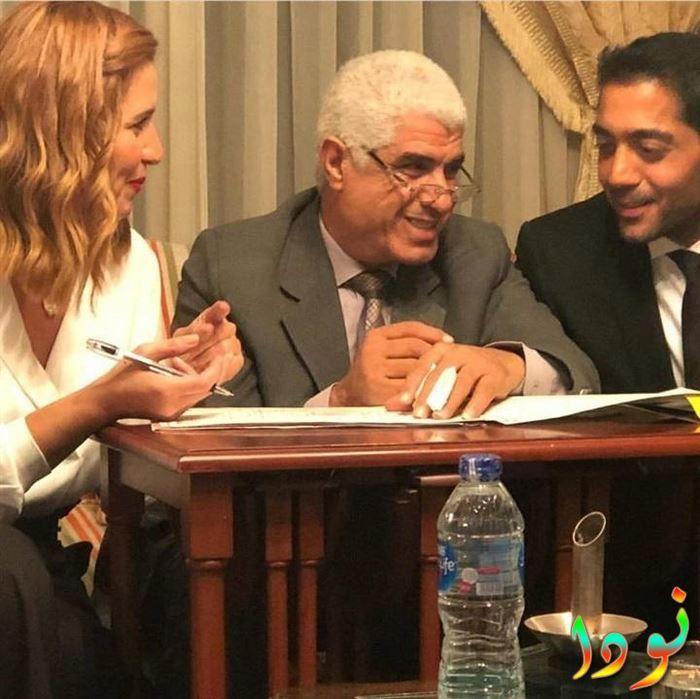 لحظة كتب كتاب أحمد فلوكس وهنا شيحة