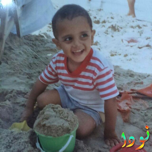 محمد أسامة وهو طفل صغير
