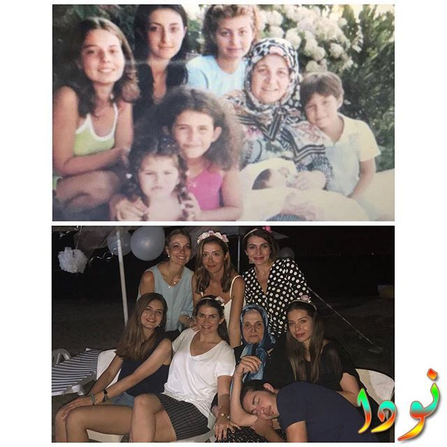 هازال أديامان وهي صغيرة مع عائلتها