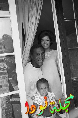 بيل كوسبي وزوجته كاميللي وابنته إريكا