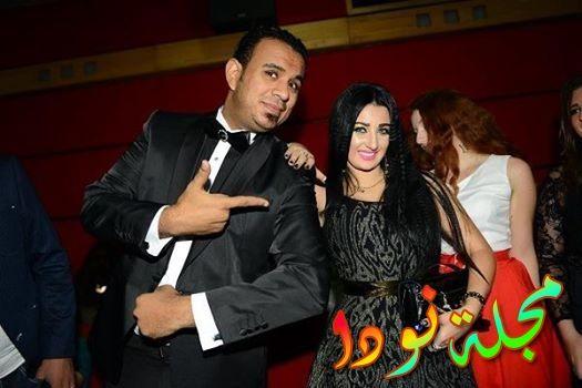 محمود الليثى وصفينار من العرض الخاص لفيلم عمرو وسلوى