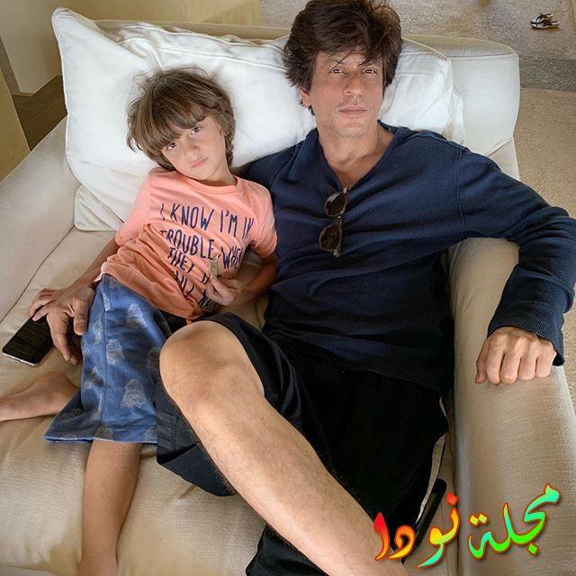 أحدث صوره لشاروخان وابنه الصغير