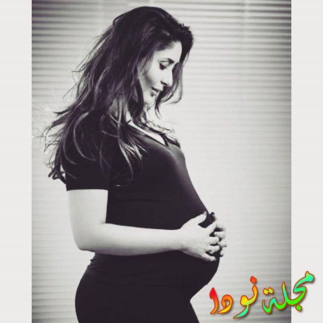 أحدث صور لها وهي حامل