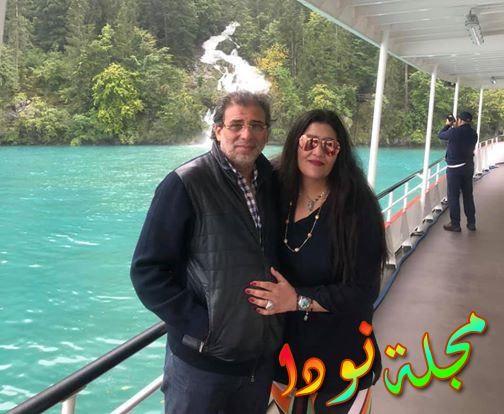 خالد يوسف وزوجته شاليمار شربتلي