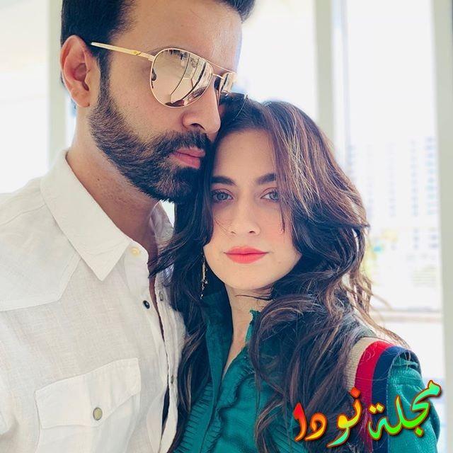 سانجيدا شيخ مع زوجها في دبي