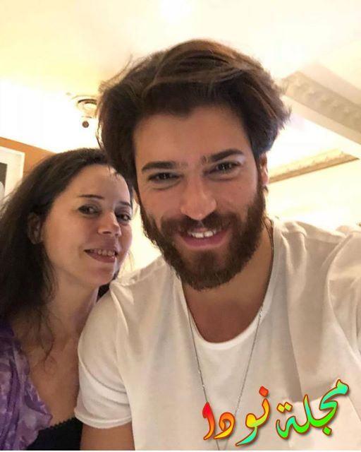 فريد مع والدته