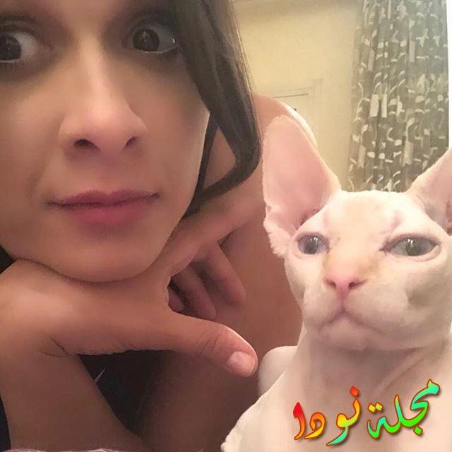 قطة ياسمين عبد العزيز