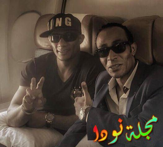 محمد رمضان مع أخوه