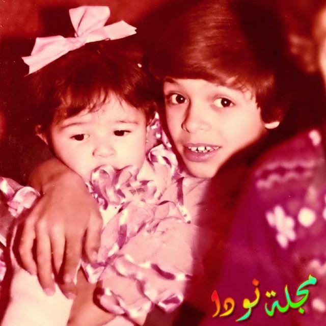 ياسمين عبد العزيز وهي صغيرة