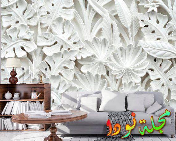 زهرة للجدران 3d
