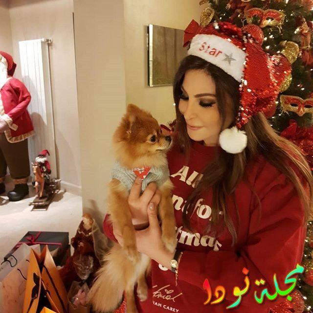 صورة جميلة لإليسا مع كلبها