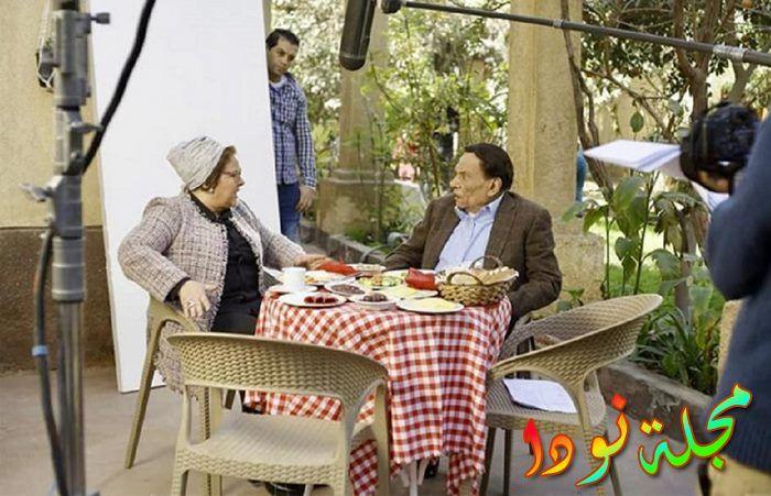 عادل إمام ودلال عبد العزيز في مسلسل فالنتينو