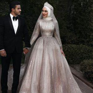 فساتين زفاف محجبات جميلة ومتألقة