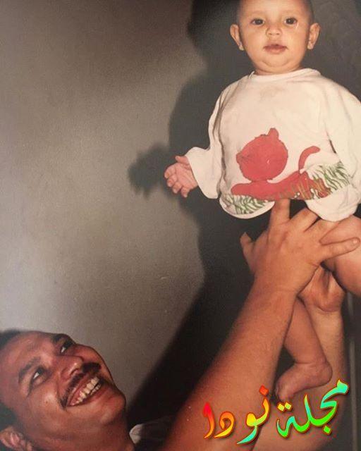أحمد خالد صالح وهو صغير مع والده خالد صالح