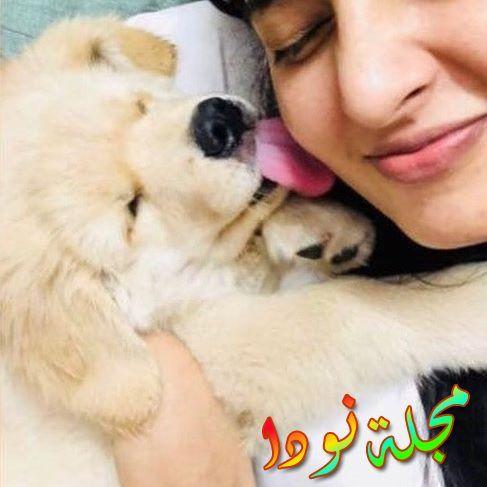 أنوشكا شيتي مع كلبها