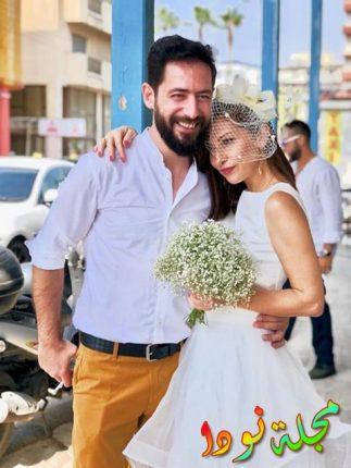 الفنان إيلي متري وزوجته