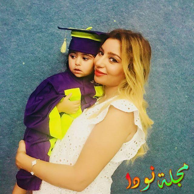 زوجة زياد برجي مع ابنته