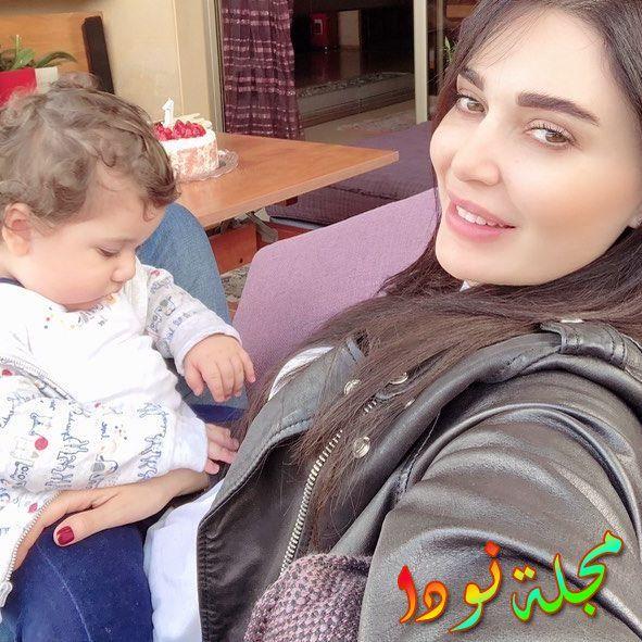 سيرين عبد النور وابنها