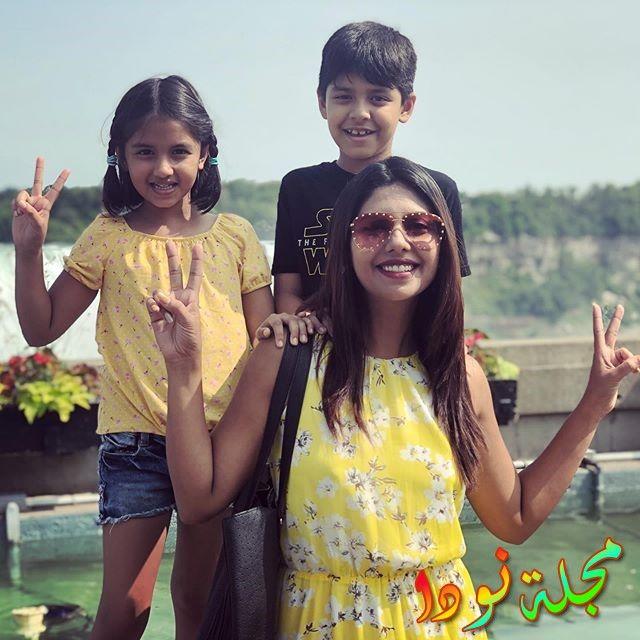 صورة لها مع أولادها