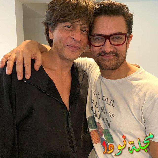 صورة له مع شاه روخ خان
