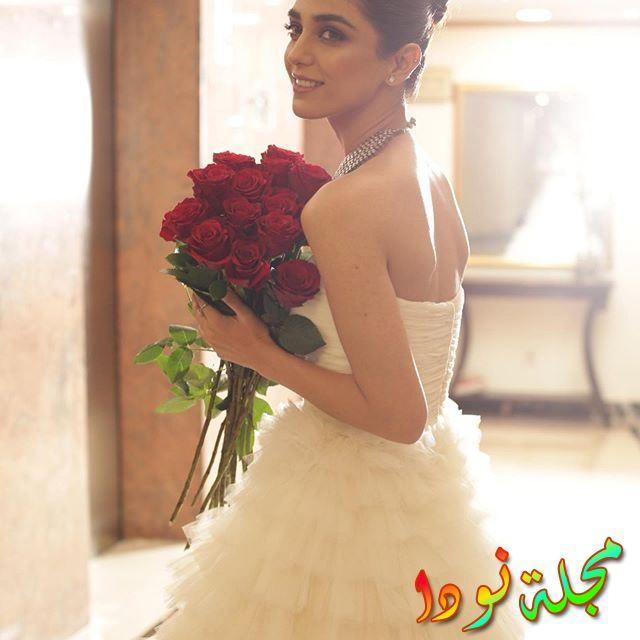 مايا علي يوم زفافها
