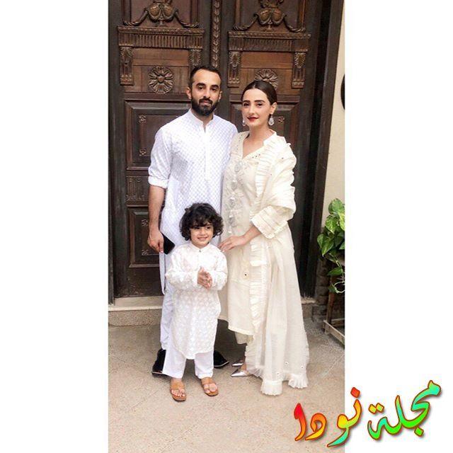 مومل شيخ وزوجها وابنها