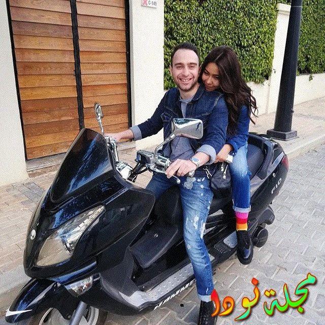 شيرين تركب الموتوسكل خلف زوجها حسام حبيب