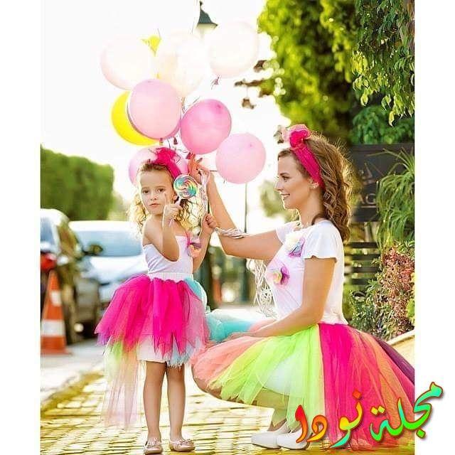صورة جميلة جدا ومرحة لإيمان العاصي مع ابنتها