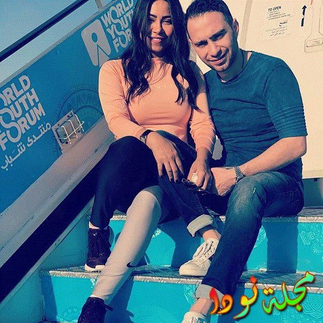 صورة جميلة لشيرين عبد الوهاب وزوجها
