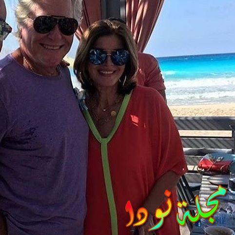 صورة قريبة لها مع حسين فهمي