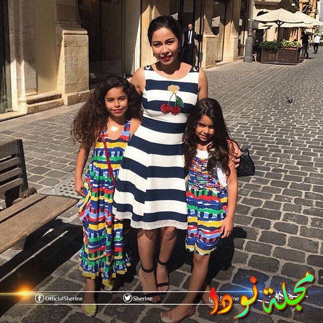 صورة لشيرين عبد الوهاب مع بناتها