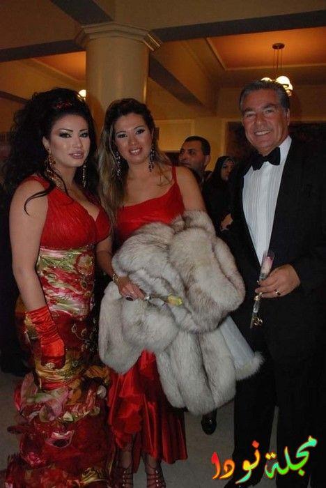 مصطفى فهمي مع زوجته الثانية رانيا فريد شوقي