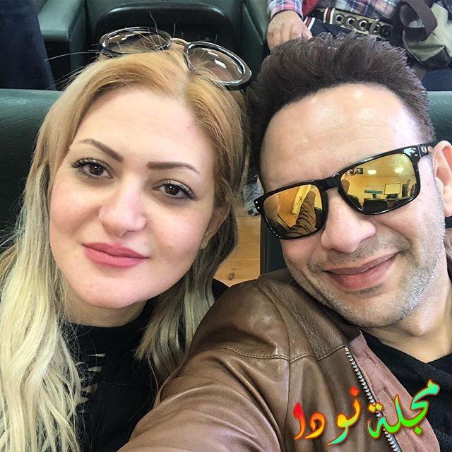 مصطفى قمر وزوجته غادة