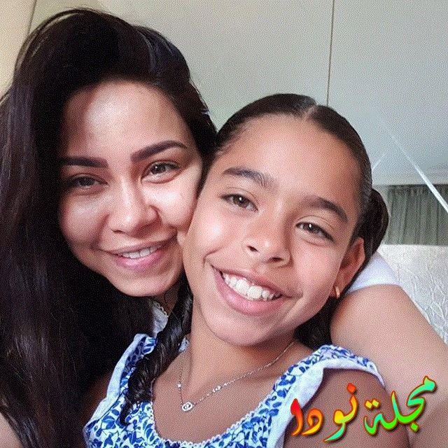 مع بنتها ريم