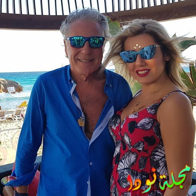 هو وزوجته يقضيان أجازة الصيف في لبنان