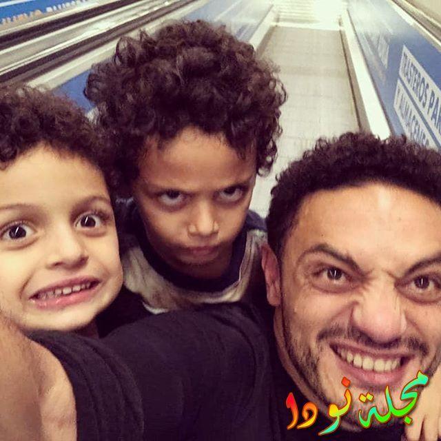 الفنان محمد علي وأولاده