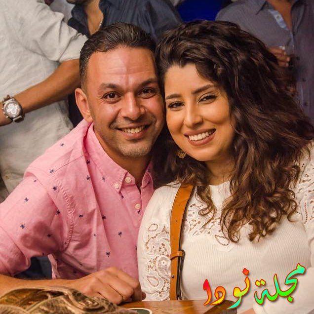 صورة آيتن عامر وزوجها عز العرب