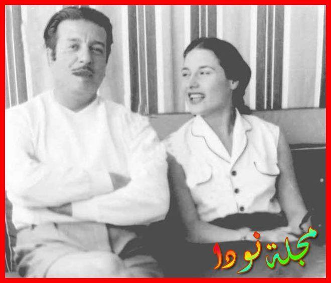 صورة تجمعه بزوجته الأخيرة ليلى فوزي