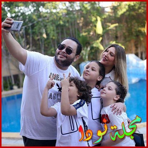 أحمد رزق وزوجته وأولاده