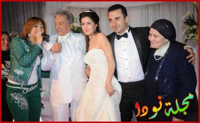 احمد سعيد عبد الغني وزوجته ووالده سعيد عبد الغني