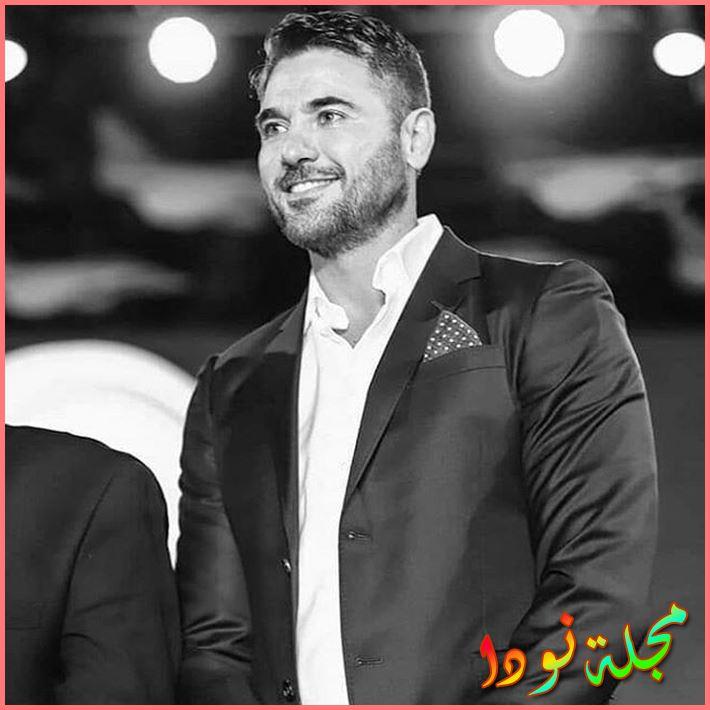 صورة أبيض وأسود لأحمد عز