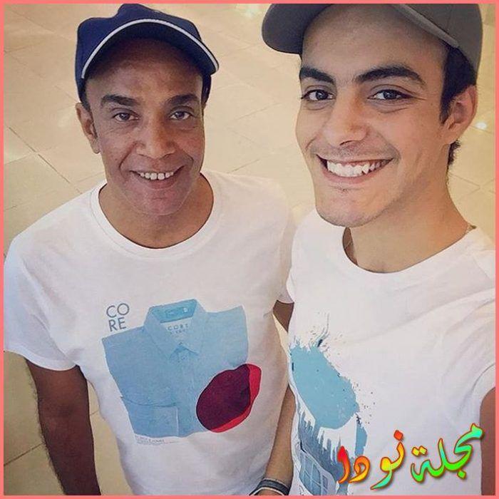 سليمان عيد مع ابنه