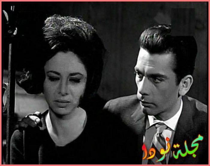 مع فاتن حمامة في فيلم الباب المفتوح
