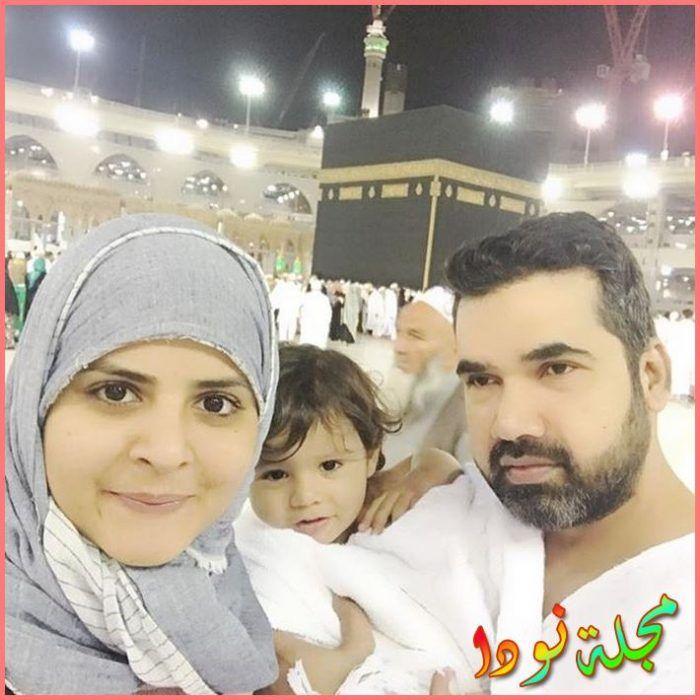 بينش شوهان مع زوجها في العمرة