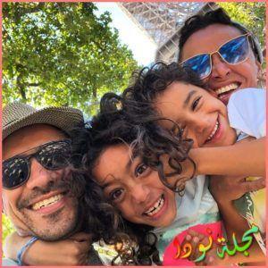 احمد داوود وزوجته واولاده