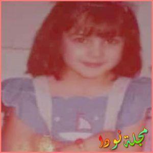 صفاء سلطان وهي طفلة