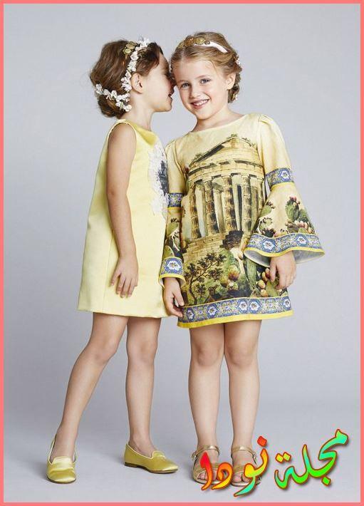 ملابس بناتي أطفال من عروض الازياء