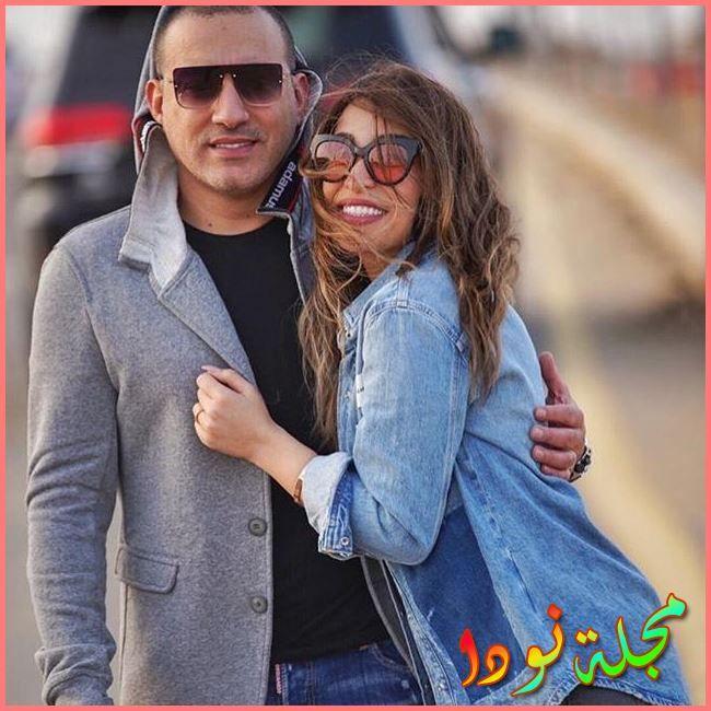 الممثل الشعبى دياب وزوجته